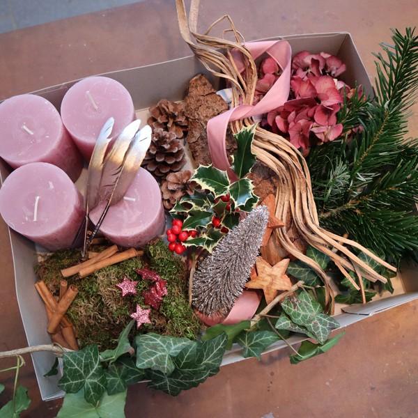 DIY-Adventskranz Paket, rosa