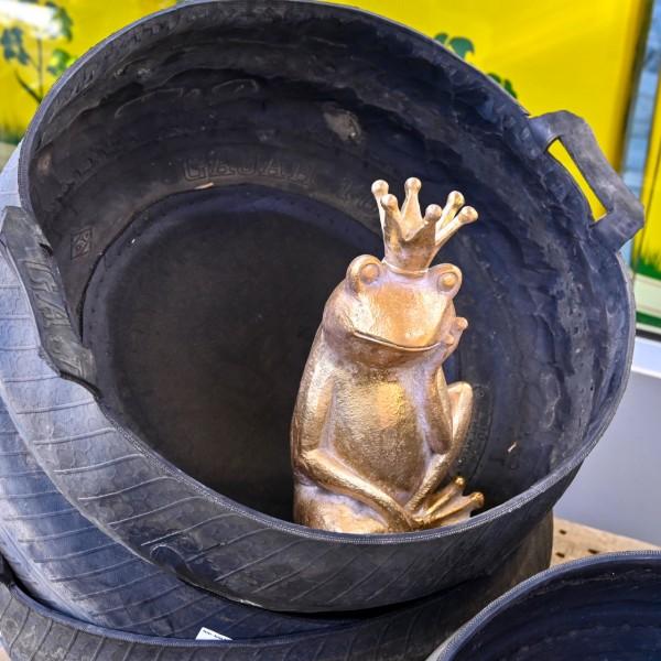 Froschkönig Figur, gold