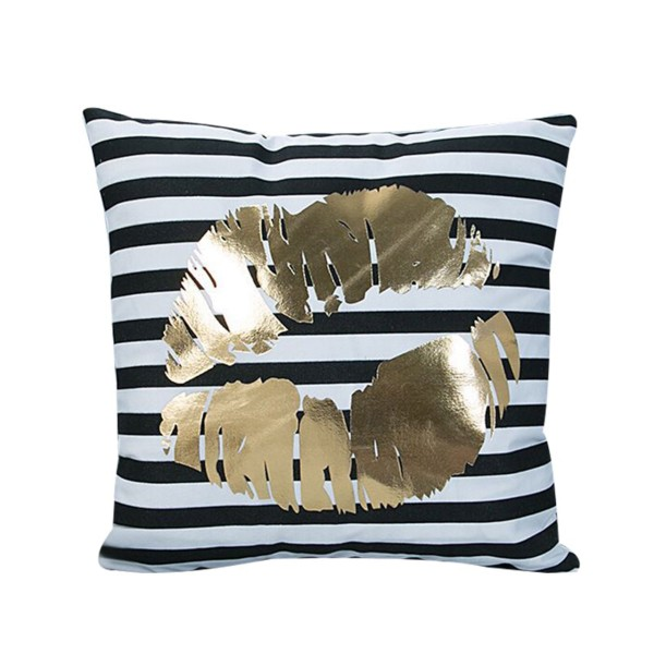 THE PILLOW Goldprint 'Goldene Lippen'