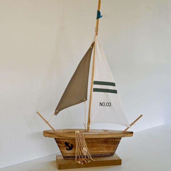 Holz-Deko Segelboot