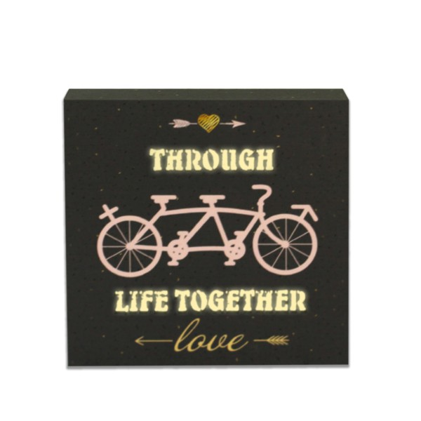 LED Lichtbild 'Through life together'