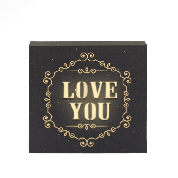 LED Lichtbild 'Love you'