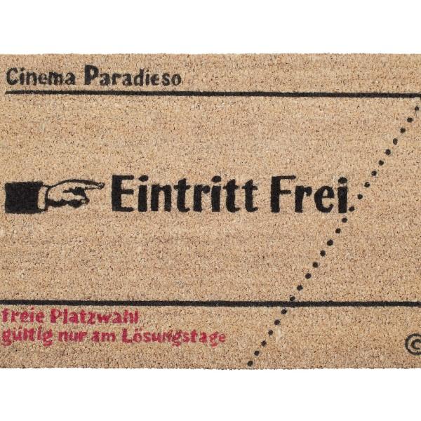 Kokos-Fußmatte 'Kinokarte'