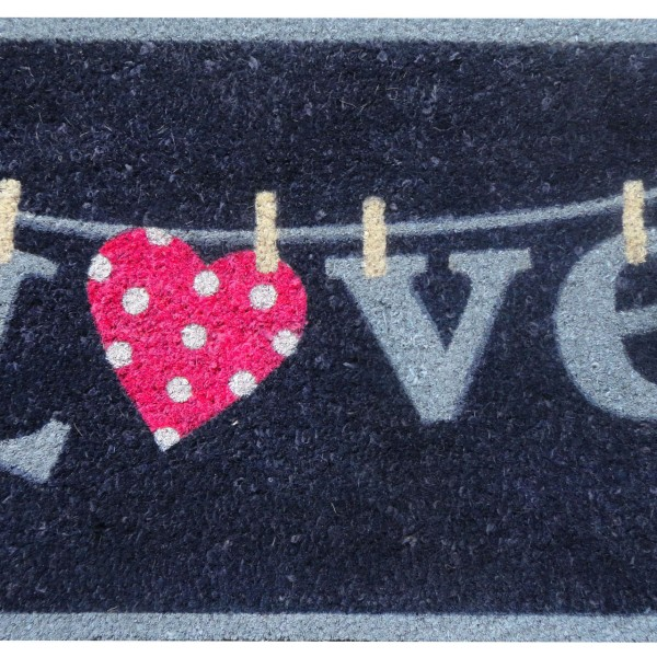 Kokos-Fußmatte 'LOVE'