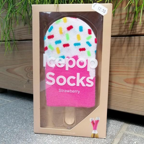 ICEPOP Socken - Eiscreme am Stiel 'Strawberry'