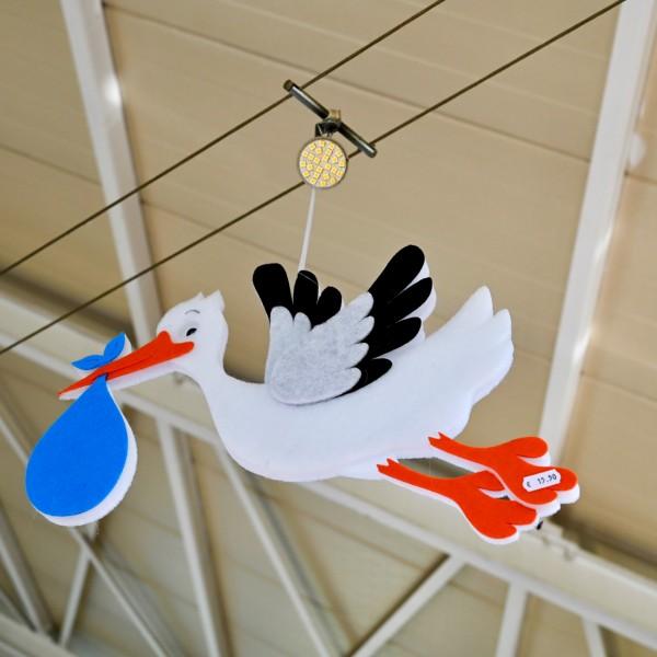 Deko-Storch zum Hängen