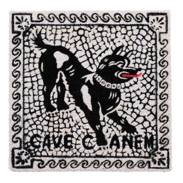 Kokos-Fußmatte 'Cave canem'