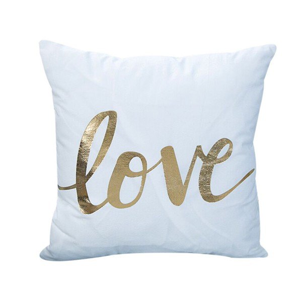 THE PILLOW Goldprint 'L O V E'