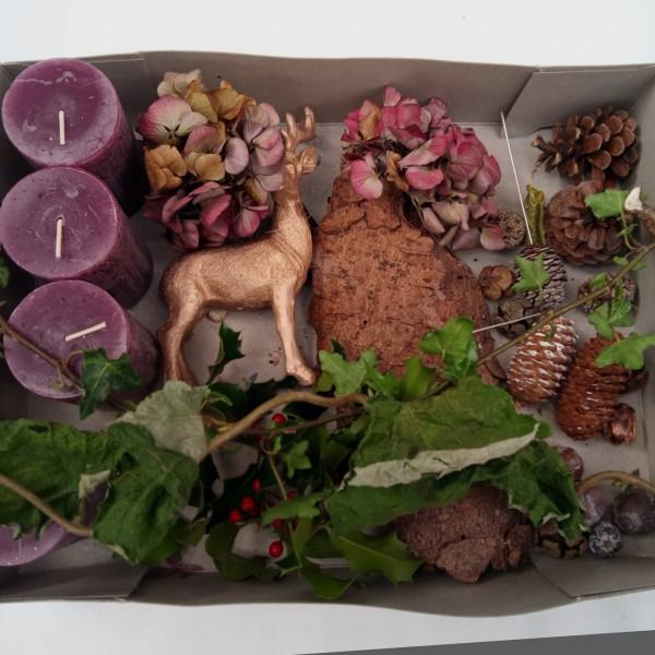 DIY-Adventskranz Paket, violett