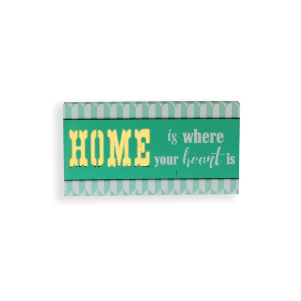 LED Lichtbild 'Home is where your heart is'